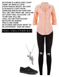 """Take Me Away"" by punkishly-perfect-in-every-way ❤ liked on Polyvore featuring maurices, Vans and La Preciosa"