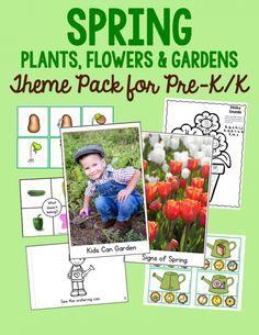 New! Spring activities theme pack for preschool and kindergarten!