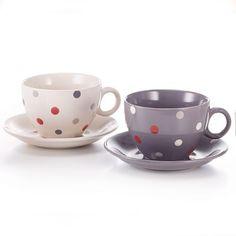Pöttyös teáscsésze Mugs, Tableware, Gourmet, Dinnerware, Tumblers, Tablewares, Mug, Dishes, Place Settings