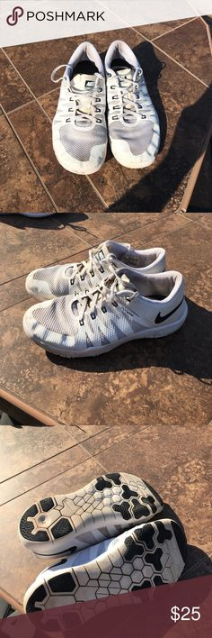 online store 1ec88 9a70a Nike Free 5.0 Running Training Shoes- White Size 6 Men s or 8 in Women s