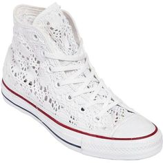 Sneakers converse women 34 ideas for 2019 Cheap Converse Shoes, Baskets Converse, Outfits With Converse, Shoes Sneakers, White Sneakers, Crochet Converse, Crochet Shoes, Chuck Taylors, Converse Trainers