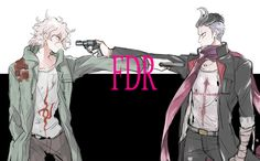 Nagito Komaeda l Gundham Tanaka Gundham Tanaka, Pink Blood, Super Danganronpa, Trigger Happy Havoc, Nagito Komaeda, Very Scary, Danganronpa Characters, Manga Games, Gundam