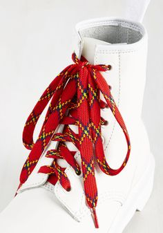New Arrivals - London Crawling Shoelaces in Red