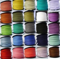 27 Colours 10/50 meters Flat Faux Suede Leather Cord 3mm×1.5mm - Craft Beads in Crafts, Jewellery Making, Findings | eBay