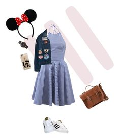 Disney fashion by itscoralvirginia on Polyvore featuring polyvore, fashion, style, Michael Kors, Chicnova Fashion, adidas, The Cambridge Satchel Company, Marc Jacobs, Casetify, York Wallcoverings and clothing