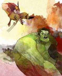 #Hulk #Animated #Fan #Art. (Hulk vs Wolverine) By: Dnz85. ÅWESOMENESS!!!™ ÅÅÅ+