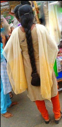 Long Hair Indian Girls, Indian Long Hair Braid, Braid Hair, Beautiful Braids, Beautiful Long Hair, Beautiful Girl Indian, Bun Hairstyles For Long Hair, Indian Hairstyles, Braided Hairstyles
