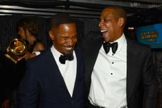 Jamie Foxx cracked up with Jay Z at the Grammys