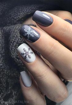 nail art designs for winter & nail art designs . nail art designs for winter . nail art designs for spring . nail art designs with glitter . nail art designs with rhinestones Christmas Gel Nails, Christmas Nail Art Designs, Winter Nail Designs, Short Nail Designs, Holiday Nails, Nail Art For Christmas, Nail Design For Short Nails, Xmas Nail Art, Fancy Nails