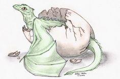Hatching dragon by akelataka