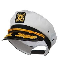 443e86318f4 ADULT YACHT BOAT SHIP SAILOR CAPTAIN COSTUME HAT CAP NAVY MARINE ADMIRAL HAT   Jhat