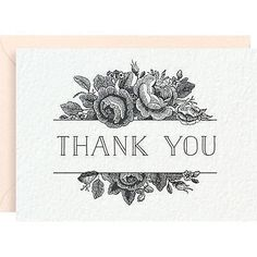 Paper Source -Thank You Cards - Antique Floral - Set of 8