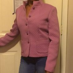 Casual Corner Fitted Blazer Beautiful Mauve Pink. Perfect for chilly night. Casual Corner Jackets & Coats Blazers