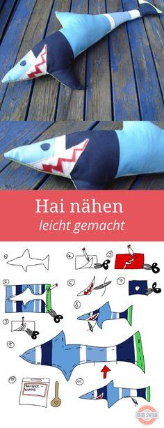 Hai nähen - zum Fisch Schnittmuster im freebook mit Anleitung einmal hier entlang! http://www.meinesvenja.de/2013/03/17/kostenlose-schnittmuster-fuers-kinderzimmer/