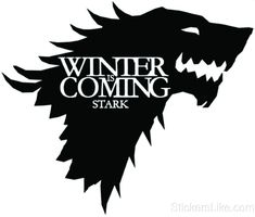 Game of Thrones House Baratheon Stark vinyl Sticker decal HBO Winter is Coming inch) - with a narcissist crock pot Game Of Thrones Cake, Arte Game Of Thrones, Casa Stark, House Stark, Game Of Thrones Wolves, Winter Is Coming Stark, Game Of Thrones Images, House Silhouette, Tags