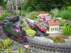 Die Garten mit der Bahn