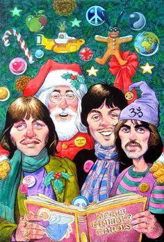 The Beatles singing Christmas Carol ✌❤ Beatles Art, The Beatles, Comic Cat, Christmas Cover Photo, Ghost Of Christmas Past, Merry Christmas, Christmas Time, Xmas, Christmas Classics