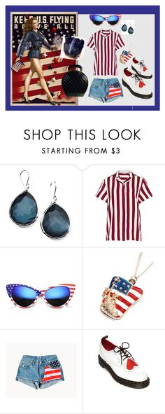 """""""red, white, blue"""" by moestesoh ❤ liked on Polyvore featuring Ippolita, RED Valentino, ZeroUV, Chicnova Fashion, Dr. Martens and Chanel"""