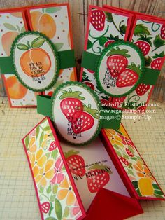 Tutorial for Box Card using Fresh Fruit stamp set, Fruit Stand DSP, all Stampin' Up products, created by Krista Thomas, www.regalstamping.com