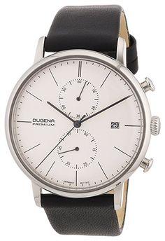Dugena Herren-Armbanduhr XL Premium Dessau Chronograph Quarz Leder 7000033