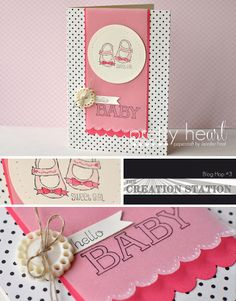 Pretty Heart, Papercraft by Jennifer Frost: