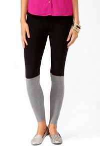 color blocking leggings