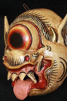 Balinese Mata Besek Mask Topeng Cyclops 1 Eyed Demon Bali Art Hand Carved Wood   eBay