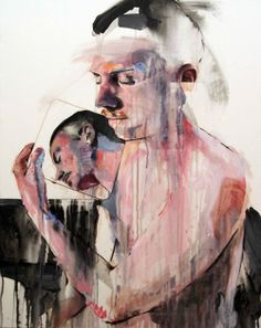 Lou Ros 2011   BD, 92x73cm, mixed media on canvas