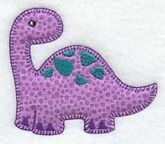 Apatosaurus (Heirloom Applique) design (Y2937) from www.Emblibrary.com