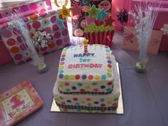 Polka Dot Birthday Party Ideas   Polka Dot Birthday Cake   party ideas