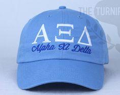 d13c0192462 Alpha Xi Delta Sorority Baseball Cap - Custom Color Hat and Embroidery. Delta  Sorority