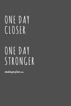 "Find quotes, relationship advice and gifts: www.sending-my-love.com ""One day closer, One day stronger"" - Long distance relationship quotes"