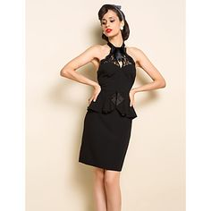 TS VINTAGE Off Shoulder Lace Peplum Dress – USD $ 30.79
