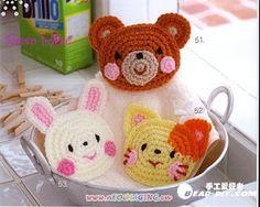 Receitas de Crochet: Pegadores de Panela