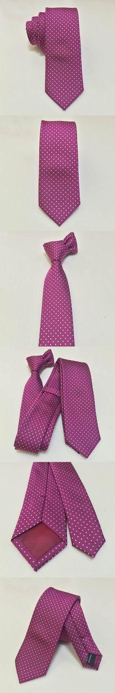 Dot Men Neck Ties Skinny Hot Pink Poka Dots Tie Slim Microfiber Adult Necktie For Women Handmade Wedding Gravata Masculina 5.5cm