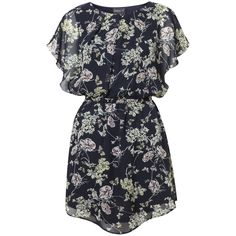 Navy Japanese Print Tea Dress in DRESSES from Apricot