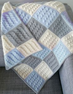 Diy Crafts - Photo above © Audurbjort I found this beautiful knitting blanket on Ravelry. This pattern designed to make a comfy blanket for t Baby Afghan Crochet Patterns, Crochet Baby Hats, Baby Blanket Crochet, Knitting Patterns Free, Diy Crafts Knitting, Diy Crafts Crochet, Patchwork Blanket, Knitted Baby Blankets, How To Purl Knit