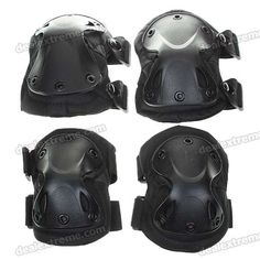 Knee and Elbow Protection Pad Sets - Black