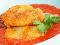 Receta | Queso frito con salsa de tomate - canalcocina.es