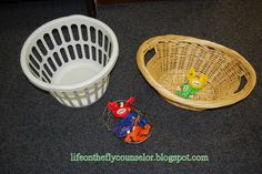 Great mini-lesson on goal setting using balls and baskets