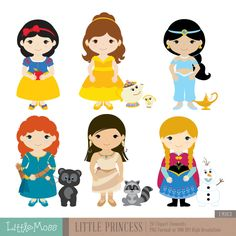 Little Princess Digital Clipart 2 by LittleMoss on Etsy