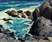 Oil Painting Landscape Pulpit Rock Monhegan by wickstromstudio