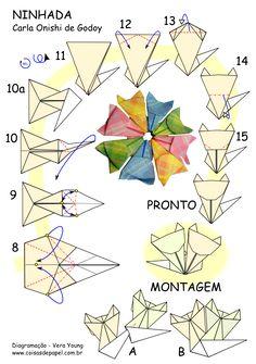 """Diagrama Mandala """"Ninhada"""" - Carla Onishi de Godoy - pg 02"""