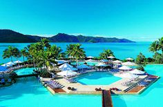 Hayman Island Resort is luxurious five star resorts located on Heyman Island, Great Barrier Reef. Dream Vacation Spots, Vacation Places, Honeymoon Destinations, Dream Vacations, Places To Travel, Romantic Destinations, Romantic Getaways, Vacation Movie, Great Barrier Reef