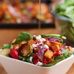 Maple Balsamic Roasted Veggie Salad