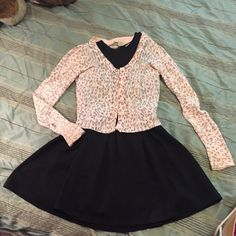 Pink cardigan Pink animal print cardigan ,really cute and pretty , perfect for a date night Forever 21 Sweaters Cardigans