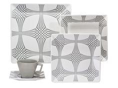 Aparelho de Jantar Quartier Squeeze 20 Peças em Porcelana - Oxford - Aparelhos Jantar 20 peças - Magazine Luiza