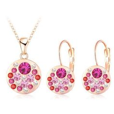 HOT New Austrian Crystal Jewelry Set $5.99 www.missmolly.com.au #missmollyau #accessories #necklaces #jewellery #pendants #fashion #womensfashion