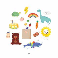 Kawaii Drawings, Cute Drawings, Cute Notes, Cute Doodles, Cute Cartoon Wallpapers, Aesthetic Stickers, Cute Illustration, Cute Stickers, Doodle Art