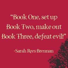 Some great advice from Sarah Rees Brennan, author of Unspoken, on writing trilogies.
